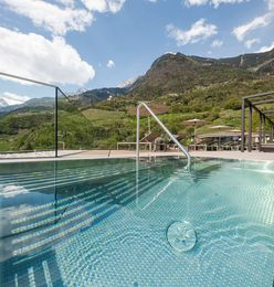 Panorama Whirlpool relax view Hotel Wessobrunn South Tyrol